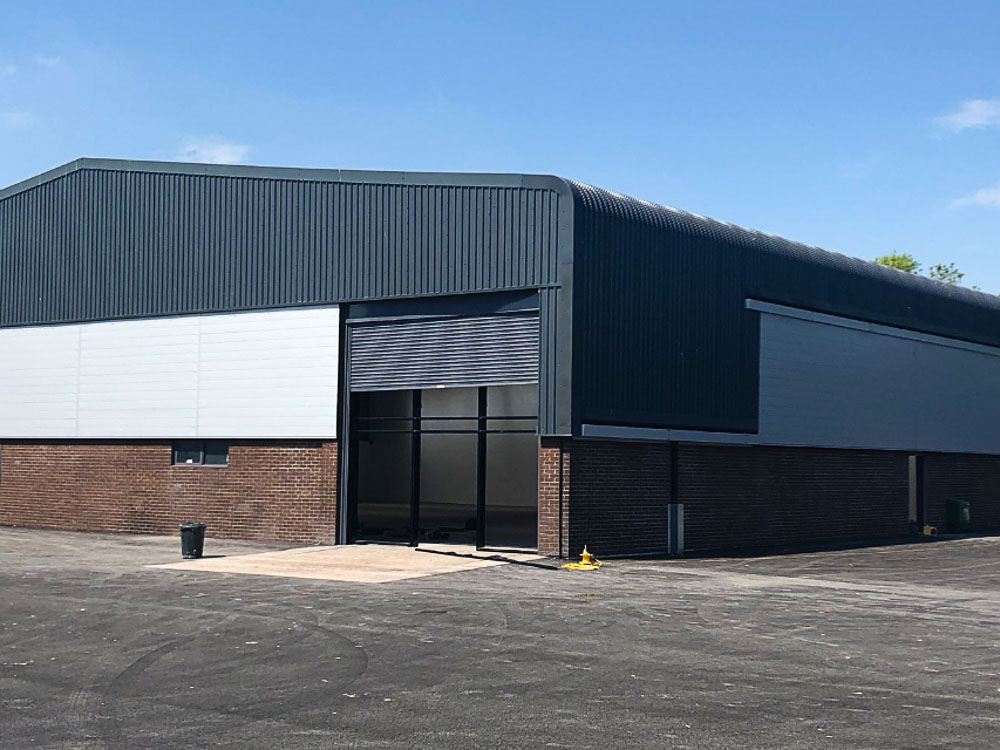 The refurbishment of 8no. industrial units on an estate in Cardiff, South Wales.