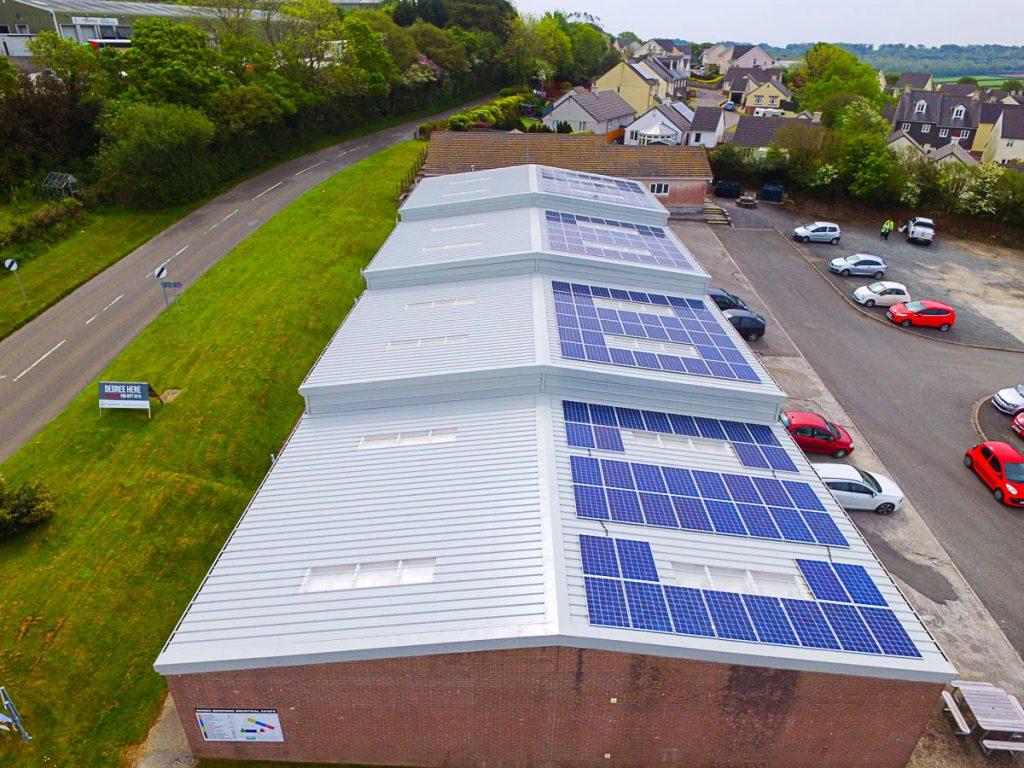 The refurbishment of 18no. light industrial units in Bodmin, Cornwall.